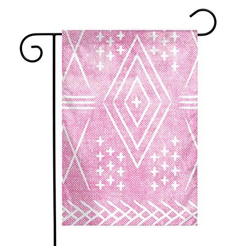 Life shop Vintage Moroccan - Hot Pink Art Garden Flag Yard Flag 12