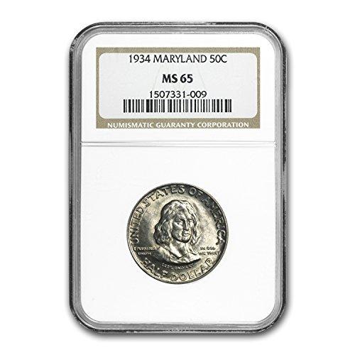 1934 Maryland Tercentenary Half Dollar MS-65 NGC Half - Five Dollar 1934