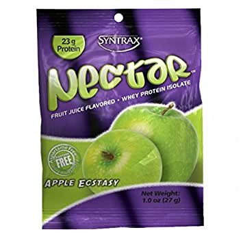 Syntrax Grab and Go Single Whey Portein Isolate Packets 12 Packets 23 Grams Protein (Apple Ecstasy)
