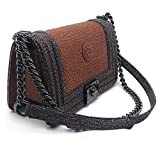 Genuine Leather Shoulder Bag For Women Classic Style Size 25x14.5x7.5 CM-Light Brown