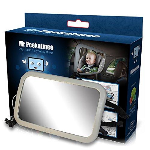 Back Seat Mirror: Mr. Peekatmee Backseat Baby Safety Mirror by Mr. Peekatmee (Image #8)