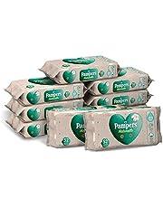 Pampers Naturello delikatne chusteczki, 99% wody, 100% bawełna organiczna, 9 opakowań po 52 sztuki, 468 chusteczek
