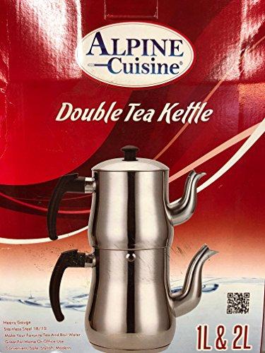 Alpine Cuisine Double Tea Kettle 1L + 2L