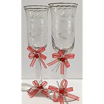 Amazon.com : Mis Quince Años Toasting Champagne Glass Silver ...