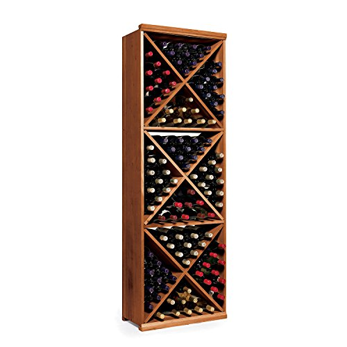 N'FINITY Wine Rack Kit - Diamond Cube - Dark Walnut - Solid Mahogany