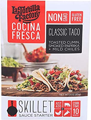 Classic Taco Skillet Sauce Starter from La Tortilla Factory (Pack of 3)