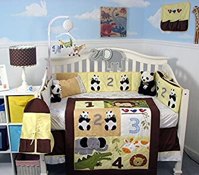Soho Baby Crib Nursery 9 Piece Bedding Set, for Boys