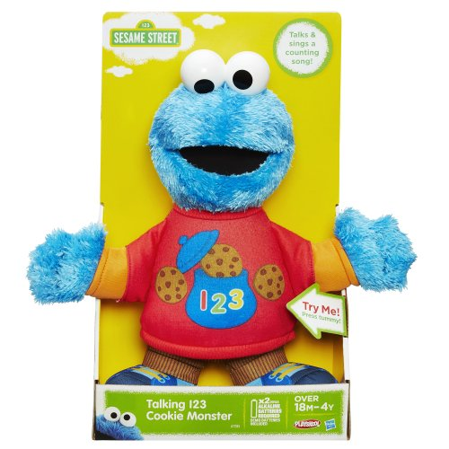 Sesame Street Toys : Sesame street talking cookie monster figure import