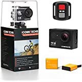 ICONNTECHS IT Action Camera 4k Waterproof Sports Action Cam for Scuba Diving wifi 170 Degree Wide Viewing Angle 60fps 12MP HD Helmet Cameras Underwater Camcorder (Black+Remote)