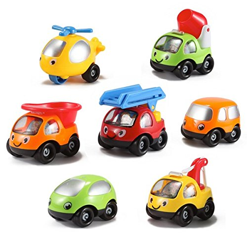 Set of 7 Kinder Toys Network Toon Town Baby Toy Cars Only $7.25