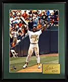 "Oakland Athletics Rickey Henderson ""Stolen Base King"" 16x20 Photograph Framed (SGA Signature Engraved Plate Series)"