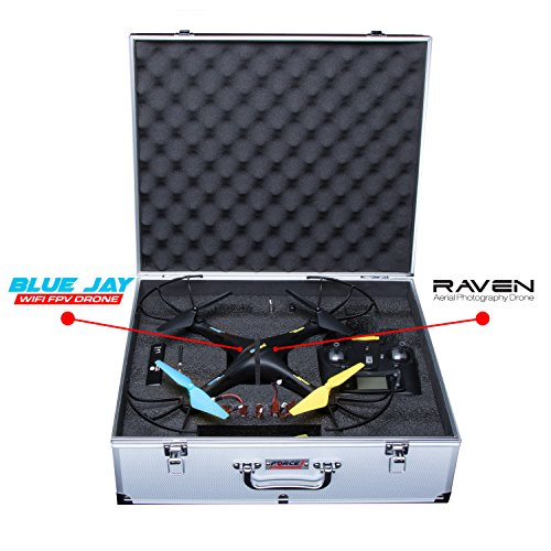 UDI U45W Drone Carrying Case – Hard Drone Case Accessories Pack for Carrying a Force1 U45W Blue Jay Wi-Fi Drone Quadcopter