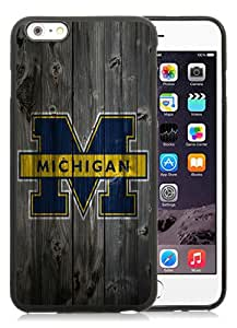 Ncaa Big Ten Conference Football Michigan Wolverines 8 Black TPU Case for iPhone 6 Plus (5.5),Prefectly fit and directly access all the features