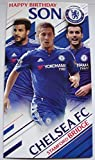 Chelsea Happy Birthday Son Card, with Badge