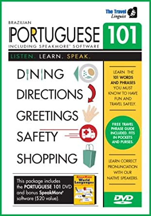 Amazon learn portuguese 101 dvd with speakmore brazilian learn portuguese 101 dvd with speakmore brazilian portuguese software m4hsunfo