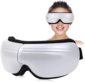 Eye Massager with Heat Temple Massager Air Compression Vibrating for Dark Circle Tired Eye Dryness Migraines Soothe