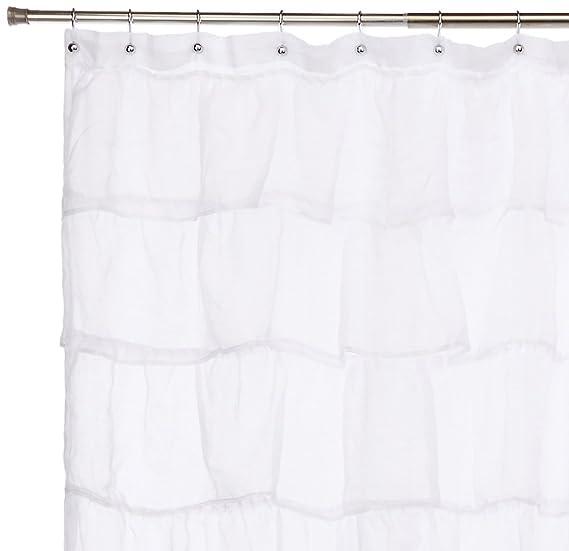 Amazon Lorraine Home Fashions 08383 SC 00001 Gypsy Shower Curtain White 70 X 72 Kitchen