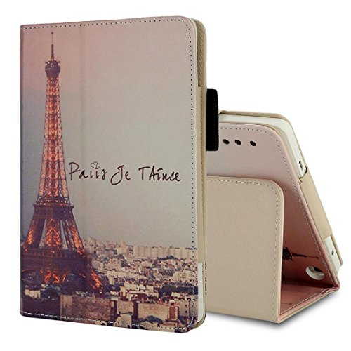 Iusun Printed Folding Premium Leather Shell Stand Case Cover For Amazon Kindle Fire HD 7 Inch Tablet (B) by Iusun