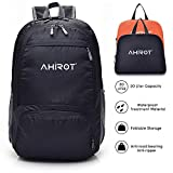 AHIROT Packable Backpack Ultra Lightweight Waterproof Hiking Daypack 20L for Travel/Hiking/Camping/Outdoors ... (Black)