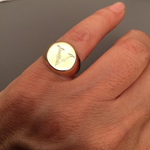 Amazon Personalized Signet ring with Engraving Engraved ring