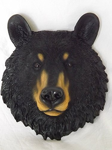 Black Bear Animal Spirit Totem Wall Sculpture