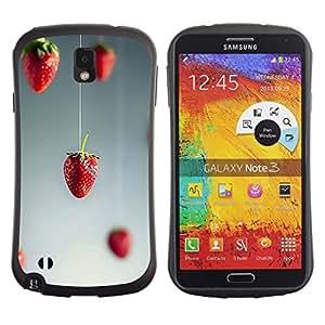 "Hypernova Slim Fit Dual Barniz Protector Caso Case Funda Para Samsung Note 3 [Arte Minimalista Rojo Gris Gris""]"