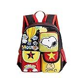 YOURNELO Kid's Cartoon Snoopy Rucksack School Backpack Bookbag for Boys Girls (C Black) Review