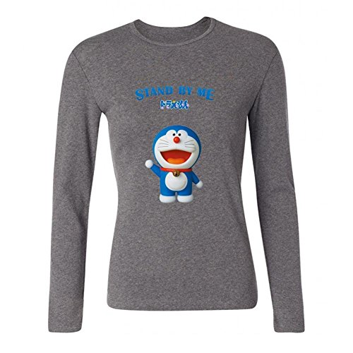 XIULUAN Women's Stand by Me Doraemon Long Sleeve T-shirt Size L ColorName
