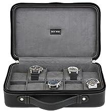 Tech Swiss TS5974BLK, Watch Case Travel Black Leather