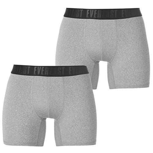 Everlast Mens Training Trunks 2 Pack Underwear Breathable Lightweight Stretch Grey Medium from Everlast