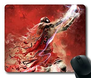 Michael Jordan Chicago Bulls Super Star NBA Sports Mouse Pad/Mouse Mat Rectangle by ieasycenter