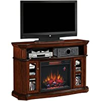 ClassicFlame 23MM1297-C259 Aberdeen TV Stand for TVs up to 60, Premium Cocoa (Electric Fireplace Insert sold separately)