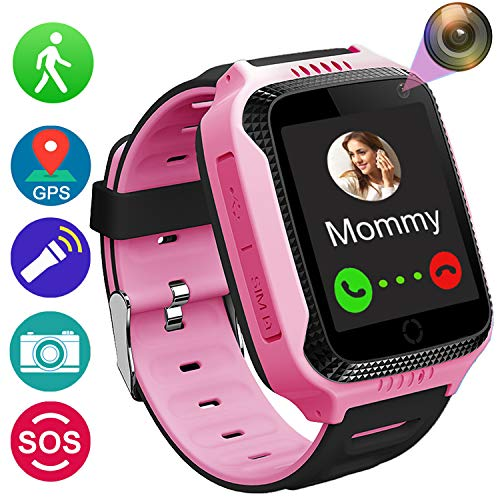 - Kids Smart Watch Phone for Girls Boys with GPS Locator Pedometer Fitness Tracker Touch Camera Games Flashlight Anti Lost Alarm Clock Holiday Birthday Gifts (01 Pink1)