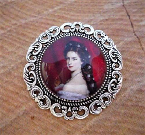 antik-silberfarben 1 BroscheSissi