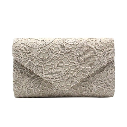 Purse Clutch Women's Deep Handbag Prom Elegant Evening Lace YJYdada Envelope Floral Gold Blue AzSXwqzdx