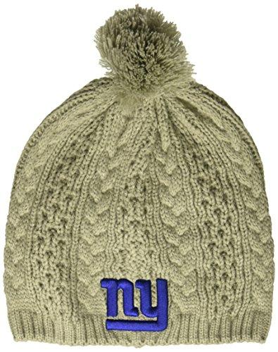NFL New York Giants Women's Valerie OTS Beanie Knit Cap with Pom, Gray, - York New Beanie Giants