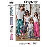 Simplicity 8179 - Patrones de Costura para Pantalones de Pijama para niños, Adolescentes y Adultos (Tallas XS a XL)