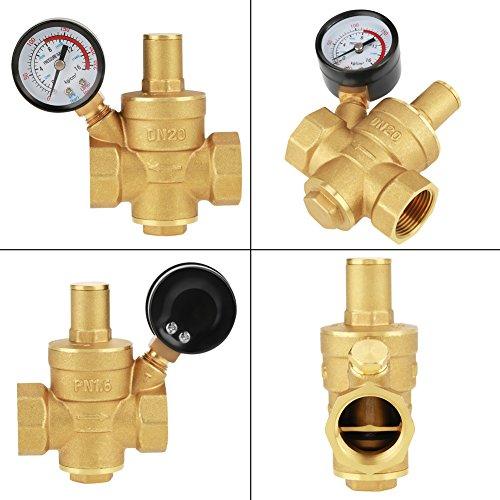 120℃ New 10℃ DN20 Adjustable Brass Water Pressure Regulator Regulating Valve