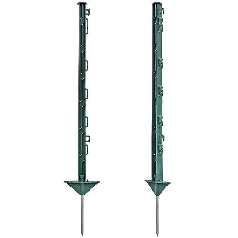 20x Poste para pastor eléctrico, largo 74cm, 7 ojales para hilo y cinta conductora