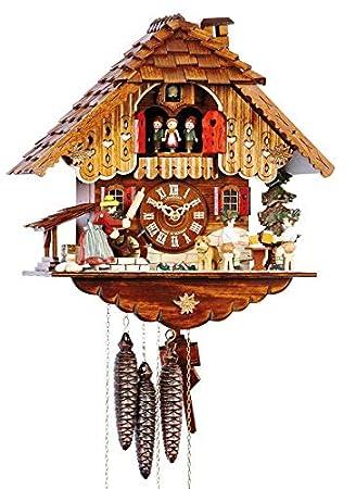 SELVA Reloj De Cuco dominan Kirch Negro bosques Artesanal – Fabricado en Alemania – Caja Madera