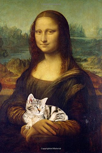 """Download Cat People are Happy People Mona Lisa with Cat Sketchbook Journal: Blank Unlined Paper Sketchbook Planner Diary 160 Pages (80 Sheets) 6"""" x 9"""" ebook"""