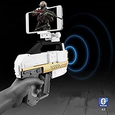 Welook Intelligent AR GUN Augmented Reality Shooting App Games Gun for IOS Android Smart Phone Combines Virtual Reality 3D AR Game Gun Bluetooth 4.2 Controller Gamepad
