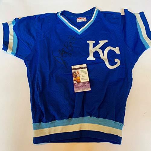 (Vintage 1980's George Brett Signed Game Model Kansas City Royals Jersey JSA COA)