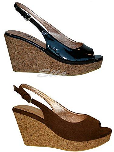 Foster Footwear - Wedges mujer marrón