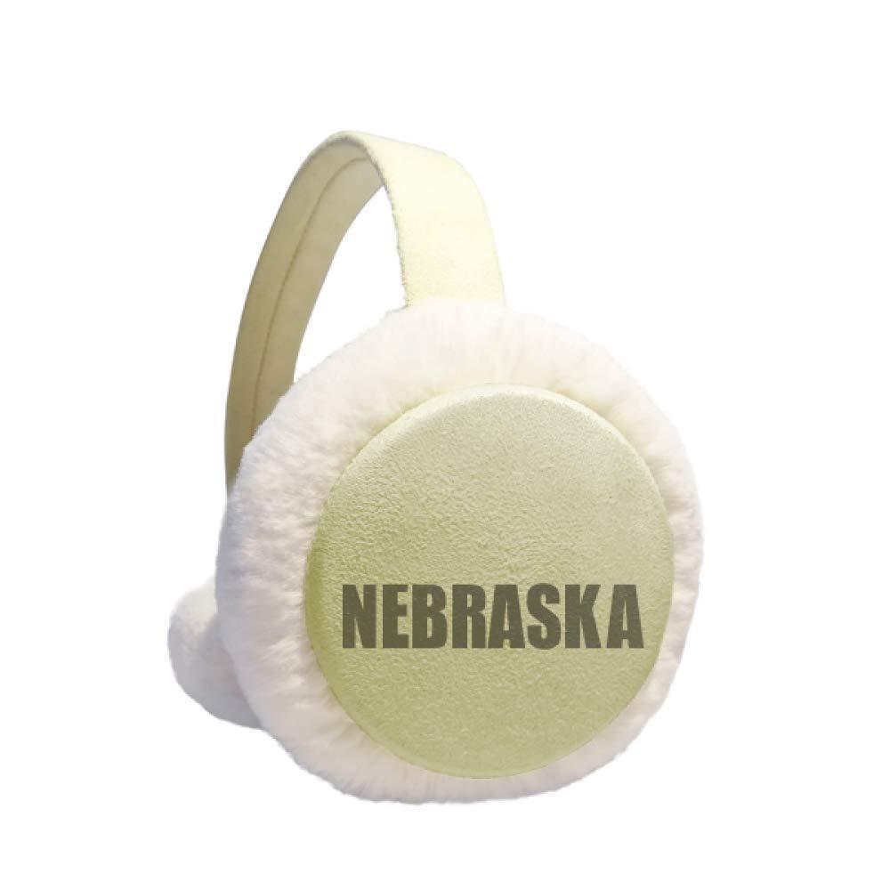 Nebraska America City Winter Warm Ear Muffs Faux Fur Ear