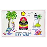 Key West Florida Cotton Tea Kitchen Towel 20'' x 32''