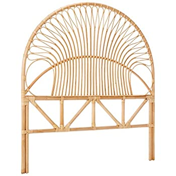 Kouboo 1110058 Rattan Loop Headboard, Full, Natural