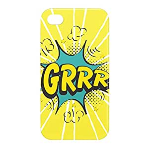 Loud Universe Apple iPhone 4/4s 3D Wrap Around GRRR Print Cover - Yellow