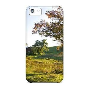 GoldenArea Iphone 5c Well-designed Hard Case Cover Golden Rays On A Farm In Ohio Protector Kimberly Kurzendoerfer