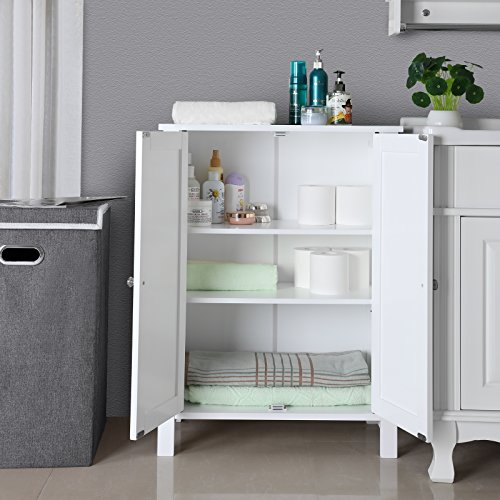 white bathroom floor storage cabinet songmics bathroom floor storage cabinet with door 24619